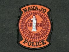 NAVAJO  ARIZONA  1868  AZ  TRIBAL   POLICE PATCH  FREE SHIPPING!!!