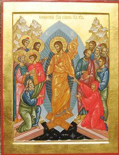 Обучение иконописи Christ Is Risen, He Is Risen, Byzantine Icons, Orthodox Icons, Christianity, Seasons, Artwork, Religion, Painting