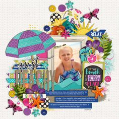 Used the following from the Sweet Shoppe: Template: Single 152: Summer Sensation 5 by Cindy Schneider Bahama Mama by Digilicious Designs and Melissa Bennett