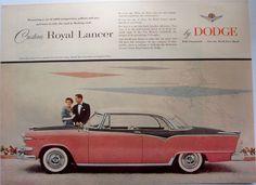 =-=1954 CAR AD Custom Royal Lancer by DODGE