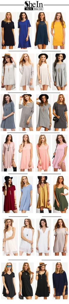 Cozy summer outfit with summer dresses. Casual plain tshirt dress today recommend for you. Good fit and thick material. Start with US$9.90 fromshein.com.