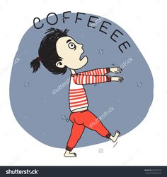 Sleeping girl zombie going for coffee. Coffee Girl, Coffee Is Life, Coffee Love, Best Coffee, Coffee Humor, Coffee Quotes, Zombie Coffee, Cafe Rico, Meaningful Pictures