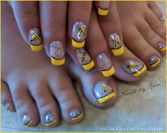 Step by step simple do yourself nail designs nail art tutorial bee nails super cute prinsesfo Choice Image