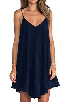 """Oshlen Braces Loose Dress Product Code:OLYQ009 Details: - Shoulder-straps - Casual style - Regular wash - Fabric: 70%Polyester30%Cotton Free Shipping! REFERENCE: model try on SIZE M, height 5'9"""", weig"""