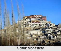 Spituk monastery, also known as Spituk Gompa or Pethup Gompa, is a Buddhist monastery built to develop an exemplary religious community in Ladakh. For more visit the page. #buddhism #buddhistmonastery #ladakh