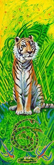 "Illustrators International: Original Contemporary Wildlife Painting ""Tiger"" by Colorado Artist Nancee Jean Busse"