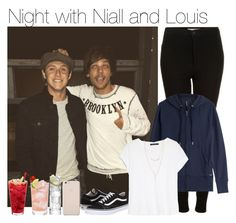 """""""Night with Niall and Louis"""" by vane-abreu ❤ liked on Polyvore featuring Topshop, Woolrich, MANGO, Black Apple, Forever 21, LSA International, H.I.P. and Vans"""