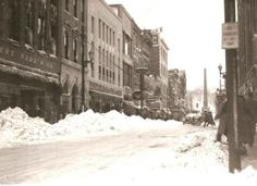 March 17, 1936 -One of the worst snowstorms of the century hit Asheville and Western North Carolina. 8 foot snowdrifts buried cars.