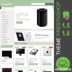 Thème PrestaShop 1.5 et 1.6 pour site e-commerce dédié à la vente de matériel informatique : écrans, mémoires, processeurs, logiciels, souris, claviers…