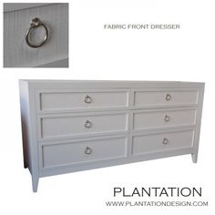 Plantation Design -- Furnishings, fabric front dresser, could hack with hemnes!!