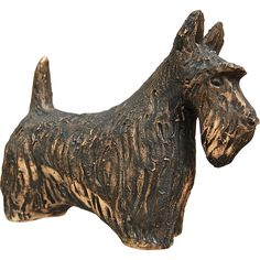 Tilgman Keramik Scottie Dog Figure, Sweden, Circa 1950's