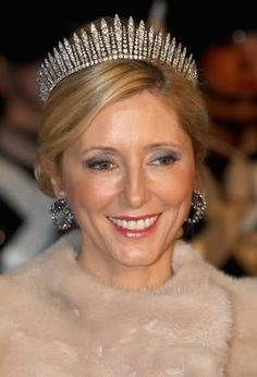 Crown Princess Marie-Chantal...fringe tiara