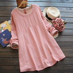 Long-Sleeve #Dotted #Dress