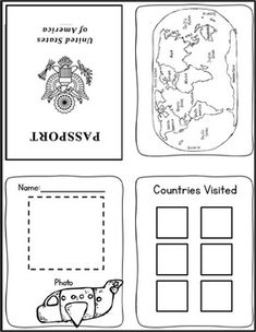 Passport Template  Passport Template Social Studies Worksheets