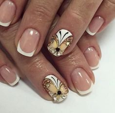 Butterfly Nail Art French