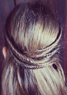 Try tying back multiple fish tail braids for the perfect fest look this summer!
