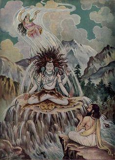 Painting hindu's god.