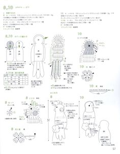 View album on Yandex. Crochet Bird Patterns, Crochet Birds, Applique Patterns, Crochet Animals, Crochet Flowers, Crochet Toys, Freeform Crochet, Crochet Diagram, Crochet Chart