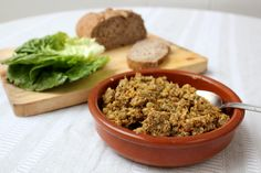 A deliciously spicy sprouted lentil dip which, dumped atop fresh bread, makes for a hearty lunch or snack.