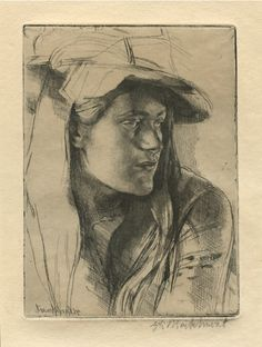 Amazing etching titled By the Window by Gerald Brockhurst. Love the tone and light on this.