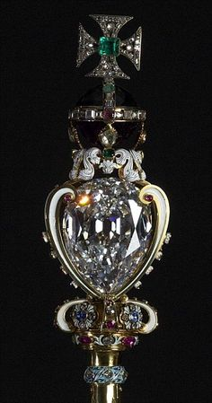 The Crown Jewels: The Sovereigns Sceptre containing the ...