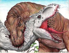Indominus rex VS Tyrannosaurus rex by TheYahid on DeviantArt Blue Jurassic World, Jurassic World Fallen Kingdom, Dinosaur Drawing, Dinosaur Art, Indominus Rex, Tyrannosaurus Rex, Michael Crichton, Dino Park, Jurassic Park Series