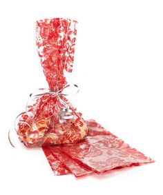 Take a look at this Large Red Damask Cello Bag - Set of 24 by Jillson & Roberts on #zulily today!