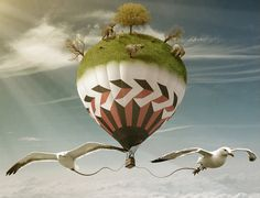 Surreal Hot Air Ballon by PSHoudini.deviantart.com on @deviantART