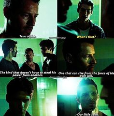 Our little Scott. I think Peter's feeling a bit smug that he chose to turn someone who would become a True Alpha lol Teen Wolf