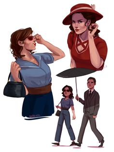 season 2 Peggy and Jarvis by kayaczek