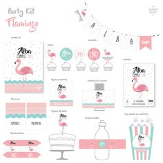 Image of Party Kit Flamingo Eid Boxes, Debut Party, Fiestas Party, Parental Guidance, The Secret World, Baby Shawer, Party Kit, Party Ideas, Flamingo Party