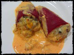 Hace muchos años que preparo estos pimientos . De hecho, la primera versión de esta receta fue una de las primeras que publiqué en es... Spanish Kitchen, Spanish Food, Spanish Recipes, Tapas, Cooking Time, Cooking Recipes, Fish Dishes, Canapes, Cakes And More