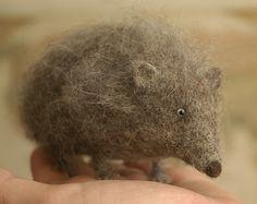 needle-felted hedgehog