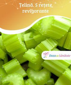 #Țelină. 5 rețete #revigorante  O țelină este mult mai mult decât un ingredient bun pentru #salată și supă, așa cum mulți au tendința să creadă. Țelina are multe proprietăți ce ajută la scăderea în greutate și în alimentație și, de asemenea, conține energia necesară zilnic. Nu ezita să încerci aceste rețete cu țelină revigorante și #sănătoase. Celery, Spirulina, Remedies, Lose Weight, Food And Drink, Vegetables, Cooking, Nerve Pain, Loosing Weight