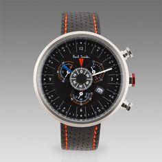 Paul Smith Black Cycle Eyes Chronograph Watch
