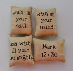 Christian Bowl Fillers  Decorative Pillows  by RyensMarketplace, $21.00