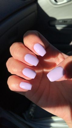 nails one color * nails one color ; nails one color simple ; nails one color acrylic ; nails one color winter ; nails one color summer ; nails one color short ; nails one color gel ; nails one color matte Acylic Nails, Lavender Nails, Best Acrylic Nails, Purple Acrylic Nails, Light Purple Nails, Acrylic Nail Designs For Summer, Squoval Acrylic Nails, Pastel Blue Nails, Violet Nails