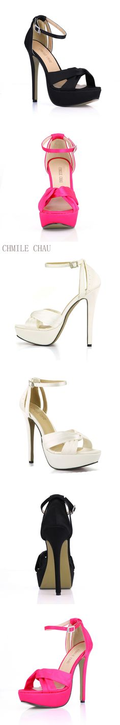 2016 New Ivory Satin Elegant Wedding Party Women s Shoes Open Toe Stiletto  Heel Dating Platform Sandals 540a03523fa1