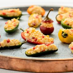 Pimento Cheese Stuffed Peppers