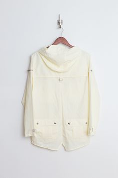 Profound Aesthetic Fisher Pocket Rain Coat Parka: Cream http://profoundco.com/collections/jackets/products/fisher-pocket-rain-coat-cream