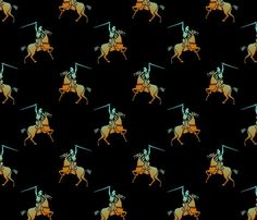 knight_and_horse fabric by vinkeli on Spoonflower - custom fabric Horse Fabric, Spoonflower Fabric, Custom Fabric, Knight, Fabrics, Wallpapers, Horses, Prints, Knights
