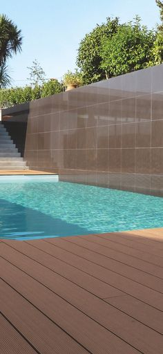 Skema's line of outdoor decking offers beautiful durable surfaces that will last a lifetime. Shown here in Terra di Siena.