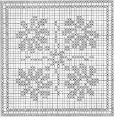 filet crochet lace squares - dogwood and roses Crochet Mandala Pattern, Crochet Motifs, Crochet Stitches Patterns, Crochet Chart, Crochet Squares, Counted Cross Stitch Patterns, Cross Stitch Designs, Cross Stitch Embroidery, Crochet Cushion Cover