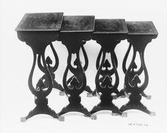 Conjunto mesas modular China (1820) China, Lacada, Madera, Modular,
