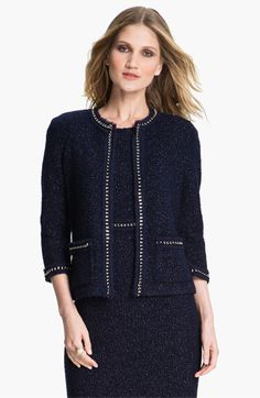 St. John Collection Shimmer Bouclette Jacket available at #Nordstrom