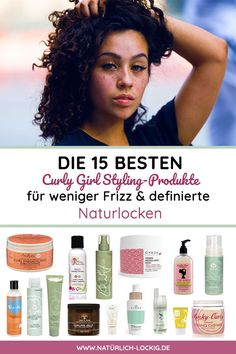 My product selection for less frizz and more defined natural curls. The 15 best styling products (including natural cosmetics) for Naturlocken. For less frizz & defined curls. Suitable for the Curly Girl method. Curly Hair Styles, Short Curly Hair, Natural Hair Styles, Wavy Hair, Curling, Pelo Cafe, Curly Girls, Hair Frizz, Lilac Hair