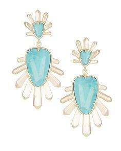 Sterling Statement Earrings in Turquoise Magnesite - Kendra Scott Jewelry.