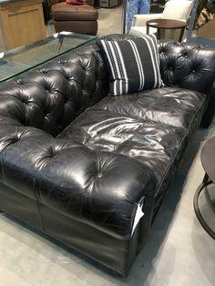 "Restoration Hardware: Kensington 76"" Leather Sofa $1818 sale"