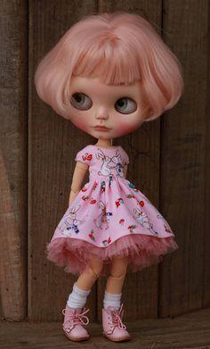 Vánoční zajíčky šaty pro Blythe panenku