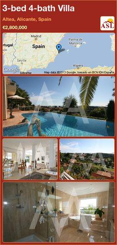 3-bed 4-bath Villa in Altea, Alicante, Spain ►€2,800,000 #PropertyForSaleInSpain
